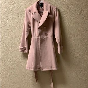 Rose pink pea coat
